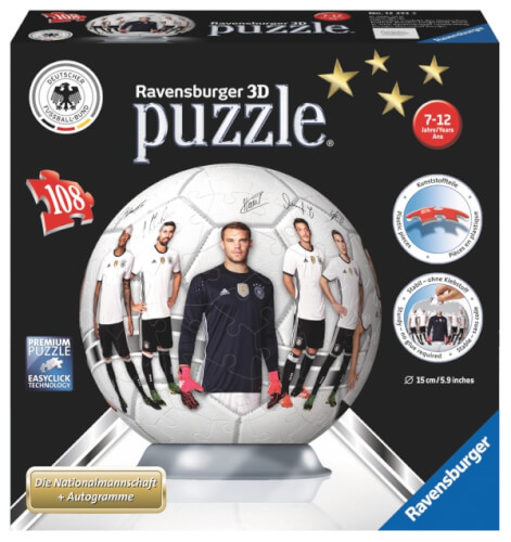 Ravensburger 122332 3d Puzzle Ball Em Fussball 2016 108