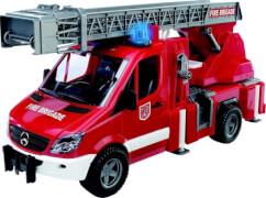 Bruder 02532 MB Sprinter Feuerwehr mit Drehleiter und Pumpe, ab 4 Jahren, Maße: 52 x 27 x 19 cm, Kunststoff