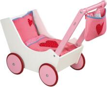 HABA Puppenwagen mit Tasche und Nuckelflasche