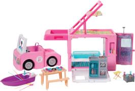 Mattel GHL93 Barbie 3-in-1 Super Abenteuer-Camper mit Zubehör