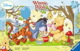 Ravensburger 60184 Rahmenpuzzle Disney Winnie Pooh - Winnies Honigparty, 15 Teile