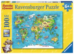 Ravensburger 10595 Puzzle Reise um die Welt 100 Teile