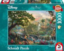 Schmidt Puzzle 59473 Thomas Kinkade, Disney, Das Dschungelbuch, 1000 Teile, ab 12 Jahre