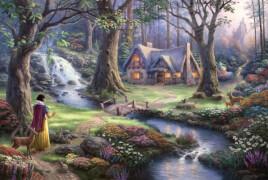 Schmidt Puzzle 59485 Thomas Kinkade, Disney, Schneewittchen, 1000 Teile, ab 12 Jahre