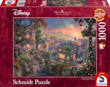 Schmidt Spiele Puzzle Thomas Kinkade Disney Susi und Strolch, 1000 Teile