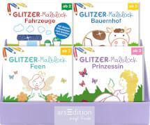 132692 Glitzermalblöcke, 4 x 6 sortiert