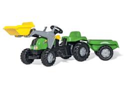 rollyKid Traktor mit Frontlader und Anhänger