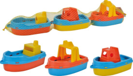 Simba Mini Boote, Länge ca. 15cm, 3 Stück im Netz, ab 10 Monaten - 8 Jahre, Kunststoff