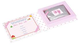 Die Spiegelburg 10480 BabyGlück - Set für Hand- und Fußabdruck, rosa