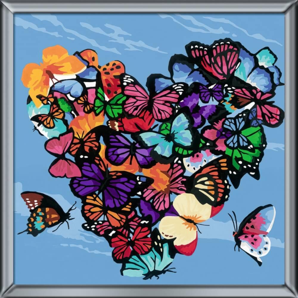 Ravensburger 290222 Malen Nach Zahlen Lovely Butterflies 290222